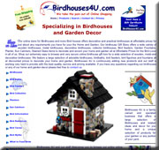 Custom designed web site for Birdhouse retailer designed by Walt's Web World in Yuma, AZ